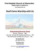 "First Baptist Church of Glenarden ""Deaf Come Worship With Us"""