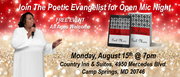Join The Poetic Evangelist for Open Mic Night