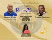 """Prince George's County Drug Policy Coalition, Inc. presents """"Voices for Recovery"""""""