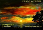 Ave Hurley - Sharrans Sunset-