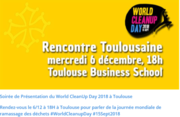 World Clean Up 2018 - Presentation le 6 dec à TBS school
