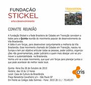 5ª Reunião do Transition Brasilândia