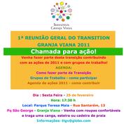 1ª Reunião do Transition Granja Viana de 2011