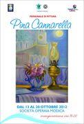 """Personale di pittura """"Percorsi, tra realtà e fantasia""""di Pina Cannarella"""