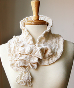 Wool and Bamboo Hand-Knit Scarflette