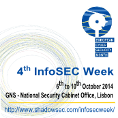 Infosec Week - a ECSM Event - 6th to 10th october - Lisbon/Portugal