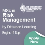 MSc in Risk Management by Distance Learning