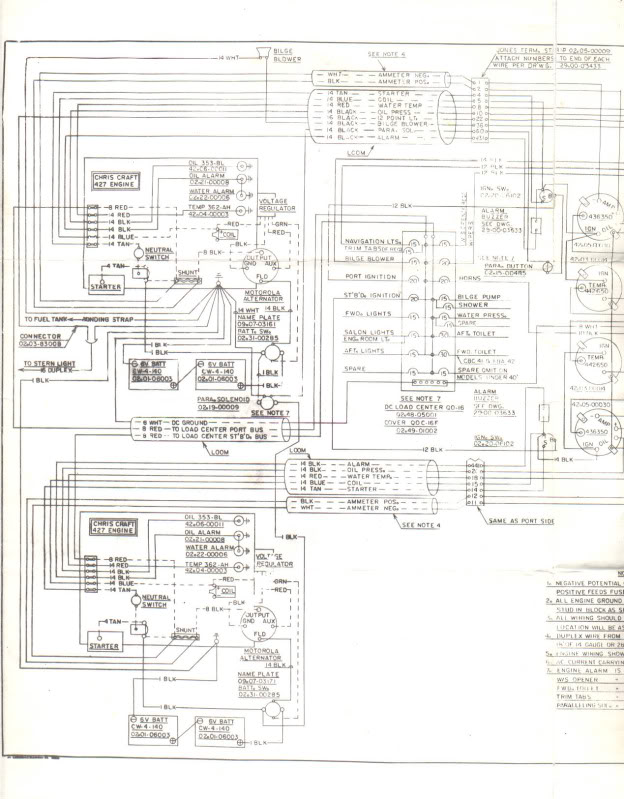 Wiring diagrams for 67 42 commander - Chris Craft Commander ClubChris Craft Commander Club