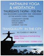 COSMIC FLOW Yoga   at Community Centre, Wood Green, Thursdays 745pm - 930pm