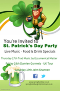 Saint Patrick Weekend Celebrations