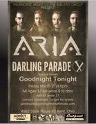Addict Entertainment presents Aria and Darling Parade @ The Outpost