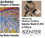 "Art Exhibit ""Shapes of Music"" by Roko Ivanda - Jazz Music by Markus Carlton **Free Admission**"