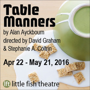 Table Manners by Alan Ayckbourn – much misbehaving at the manor house, opens Apr 22