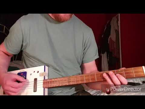 How to play Black Door by The Black Keys on Cigar Box Guitar