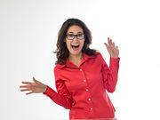 Monica Sav silly glasses