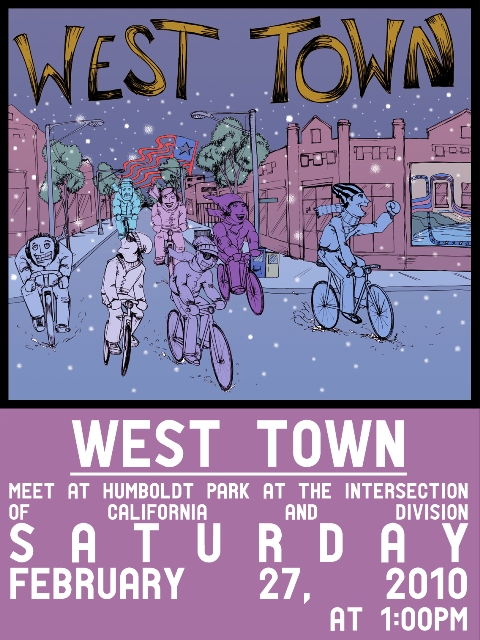 West Town Winter Bike Tour Poster