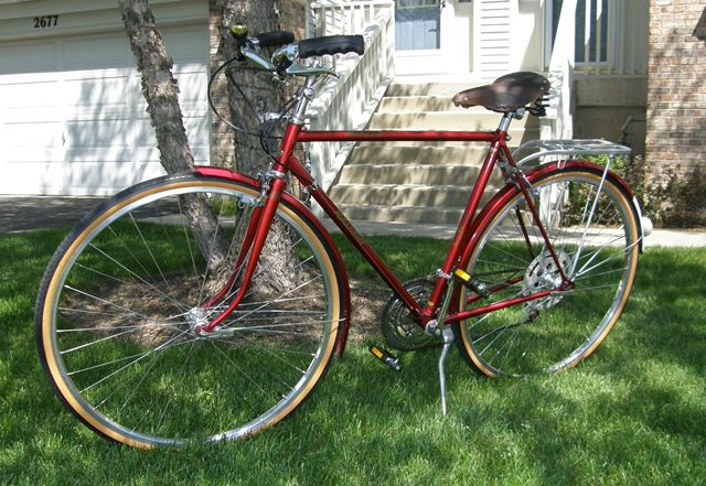 1974 Raleigh Sprite 10 Speed Carmine
