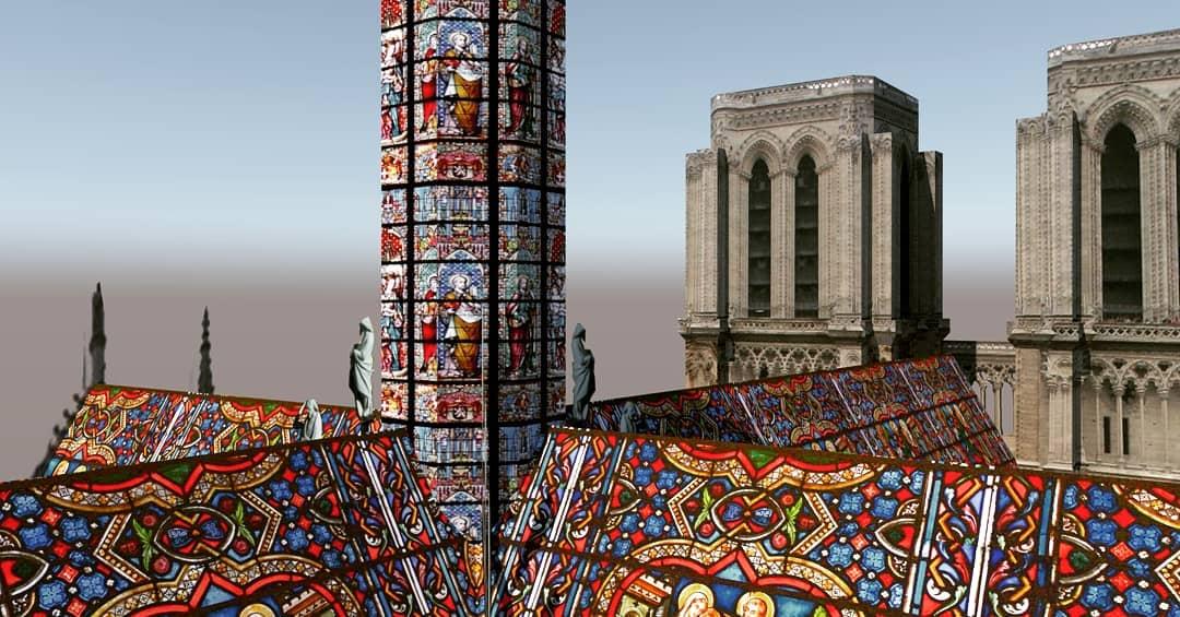 ნოტრდამი, ნოტრ-დამი, ნოტერდამი, ნოტრედამი, არქიტექტურა, პარიზი, ტაძარი, დიზაინი, სახურავი, qwelly