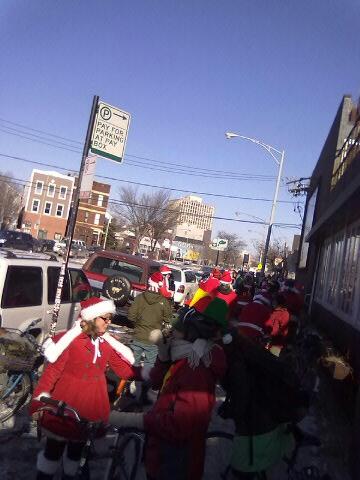 Santas Mount Up!