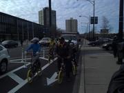 Advil/Richard Dent Ribbon Cutting at Jackson/Damen Protected Bike Lane