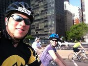 Me and the Mrs. on Bike the Drive