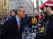 Press conference for the Dearborn Protected Bike Lane