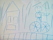 Ballerina on a bike