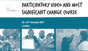 Participatory Video and Most Significant Change Course - London 25-27 October