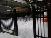 Wilson Red/Purple Line bike corral, 12 Feb 2018