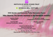 "XXIX Gender and Economic Policy Discussion Forum on ""Who Weaves: The Gender Question in the Handloom Industry"""
