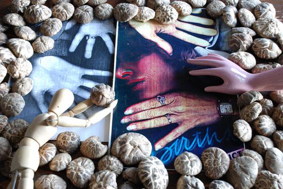 Seymour Photocopies, hands, and mushrooms