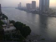 The modern part of Alexandria coast, Egypt.