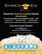 "Courtyard Shops at Wellington ""Shred 4 Ed"""