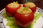 "LFRV ""Rice"" Stuffed Tomatoes"