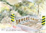 Creaky old bridge, San Simeon Creek