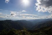 paisaje de las montañas que se observan desde el Jarillo