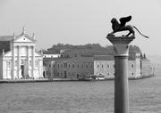 Vista desde la Catedral de San Marcos, con la Basílica de San Giorgio Maggiore al fondo. Venecia