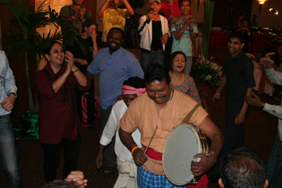 all of us dancing on Indian drum