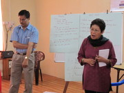 Parvez (AIDS Prevention Society) and Dr. Joyce Angami (Nossal Institute)
