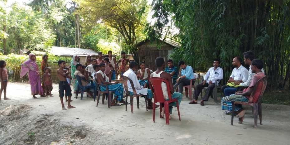 Men taking responsability for immunization in Assam