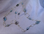kyanite and silver links