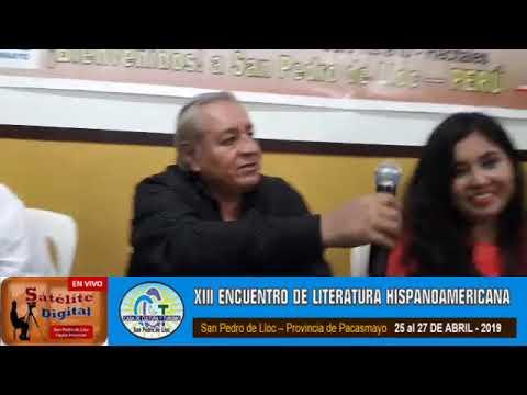 Fiorella Gutiérrez en el XIII Encuentro de Literatura Hispanoamericana en San Pedro de Lloc
