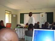 Karoli Presenting Group findings at a TOT workshop in Nairobi