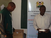 Ministry of youth affairs officers at a workshop