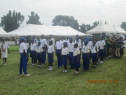 students' Rehearsing for parade