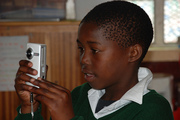 Student with Flip Camera