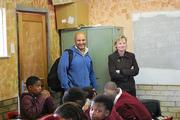 Sharon and Noble at Siyazakha Junior High School