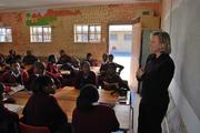 Visit to a class at Siyazakha Junior High School