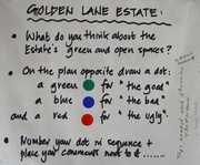 Golden Spaces: The dots explained