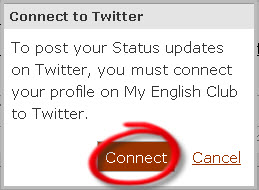 connect to Twitter